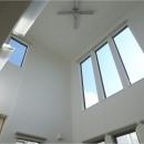 オール電化住宅:東京都国分寺市Y様邸の写真 リビング吹き抜けのハイサイドライト