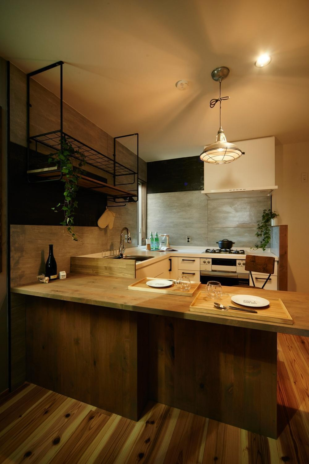 industrial style house (ダイニング・キッチン)