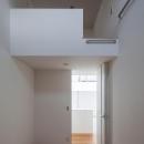光が通り抜ける家の写真 ロフトのある洋室