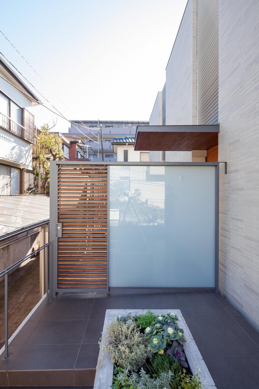 坪庭の家 (玄関)