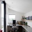 お隣と共有する「第2のGL」をもつ家の写真 住まい手の趣味部屋
