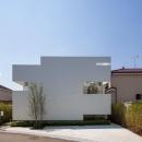立体市松壁の家の写真 立体的な市松模様で構成した外観