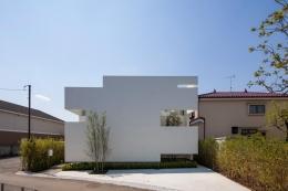 立体市松壁の家 (立体的な市松模様で構成した外観)