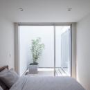 立体市松壁の家の写真 ベッドルーム