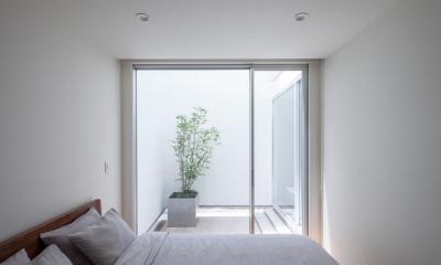 立体市松壁の家 (ベッドルーム)