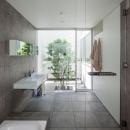 立体市松壁の家の写真 洗面室