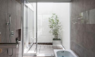 立体市松壁の家 (バスルーム)