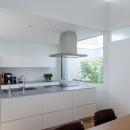 立体市松壁の家の写真 アイランドキッチン