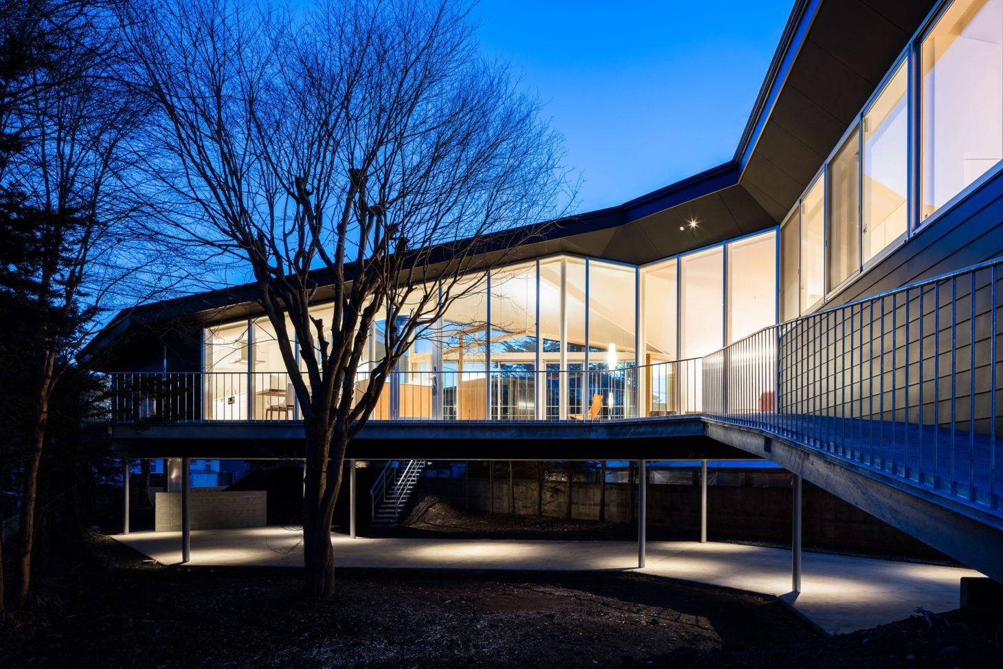 軽井沢の別荘の写真 外観-ライトアップ