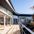 軽井沢の別荘の写真 ウッドデッキテラス