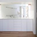 軽井沢の別荘の写真 ダブルボウルの洗面室