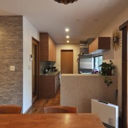 世代交代した井草の家-キッチン