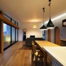 宝塚の家 _太陽を取り込む眺望の家の写真 リビング