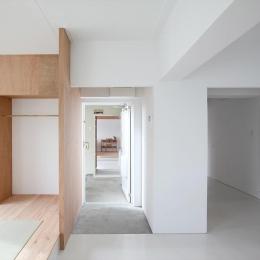 茶山台団地ニコイチ改修 RCタイプ (繋がる玄関)