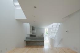 玉津の住宅 / House in Tamatsu (2階LDK(南より北を見る))