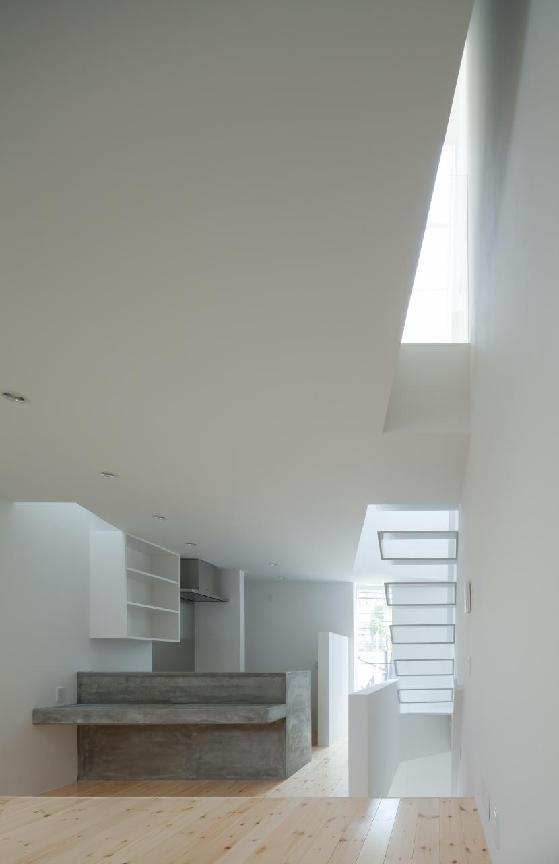 玉津の住宅 / House in Tamatsu (2階LDK(南東より北を見る))
