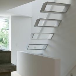 玉津の住宅 / House in Tamatsu (2〜3階階段1)