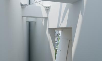玉津の住宅 / House in Tamatsu (3階〜屋上階段上部トップライト)