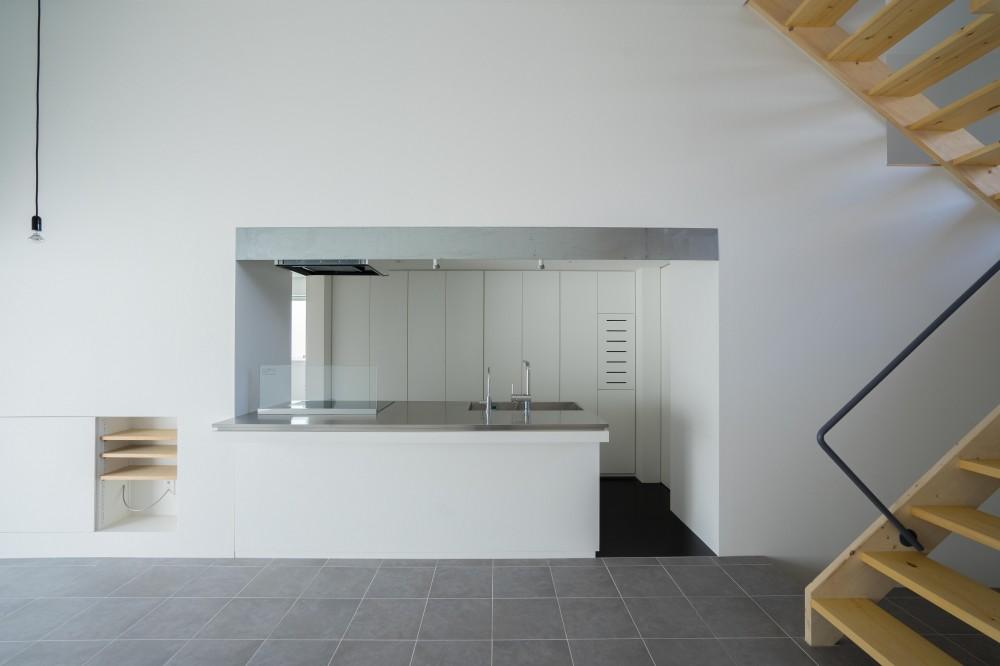 『グロット』スキップフロアでつながる一体的内部空間 (キッチン)
