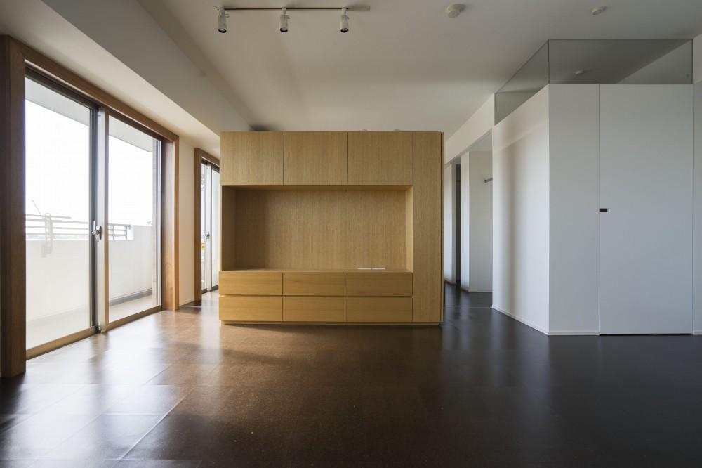 日吉のマンションリノベーション (リビングダイニング)