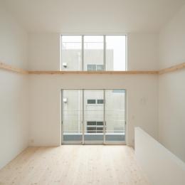 House F (2階リビングダイニング(北より南を見る))