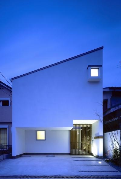 豊中の家 (外観夜景)