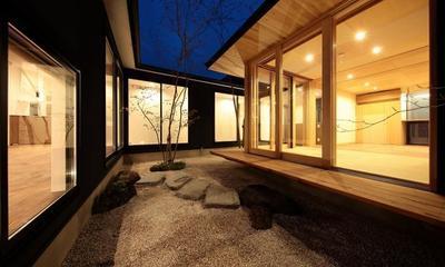 中庭|加須の平屋