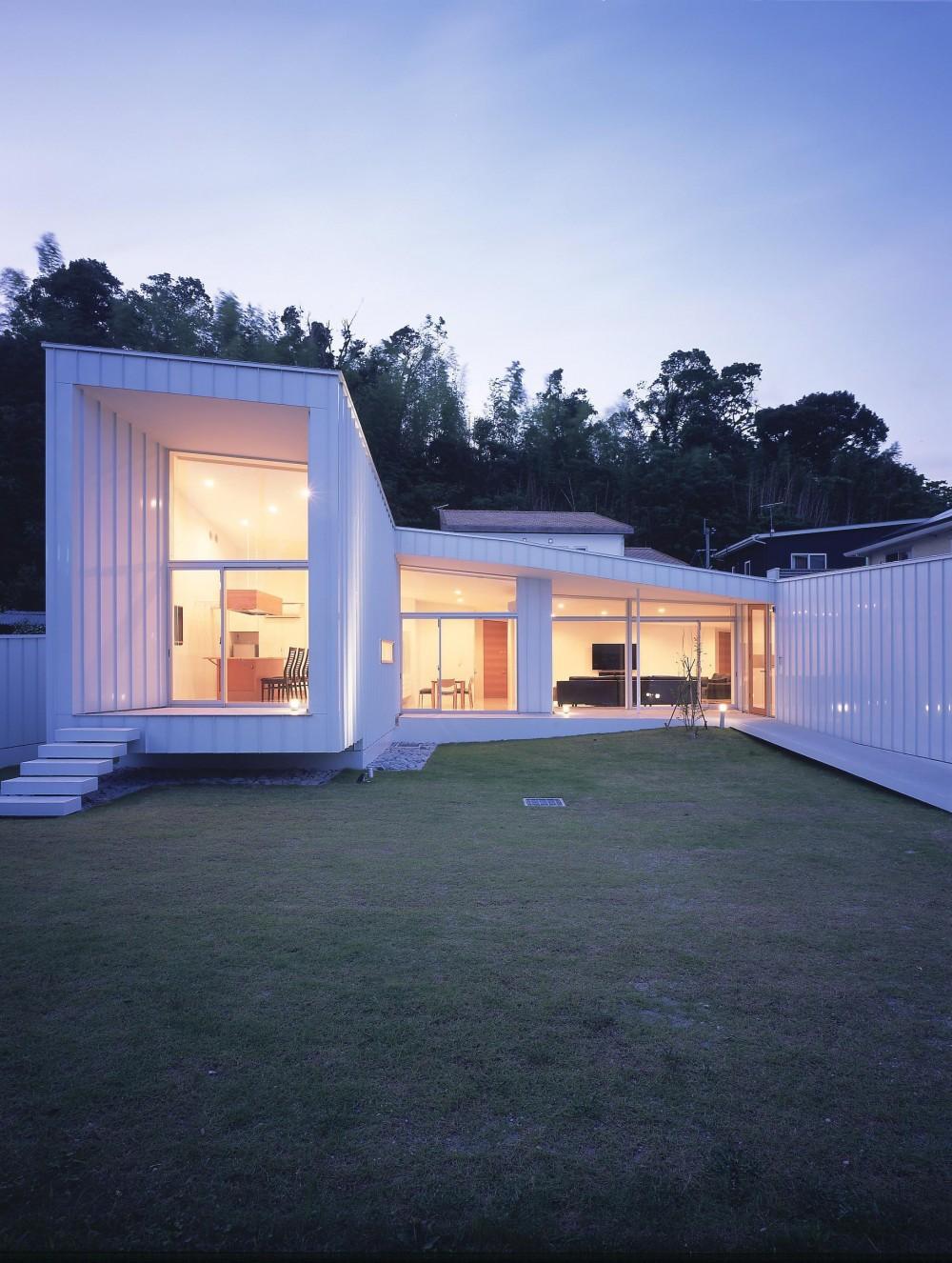 薩摩川内の住宅 (外観夜景1)