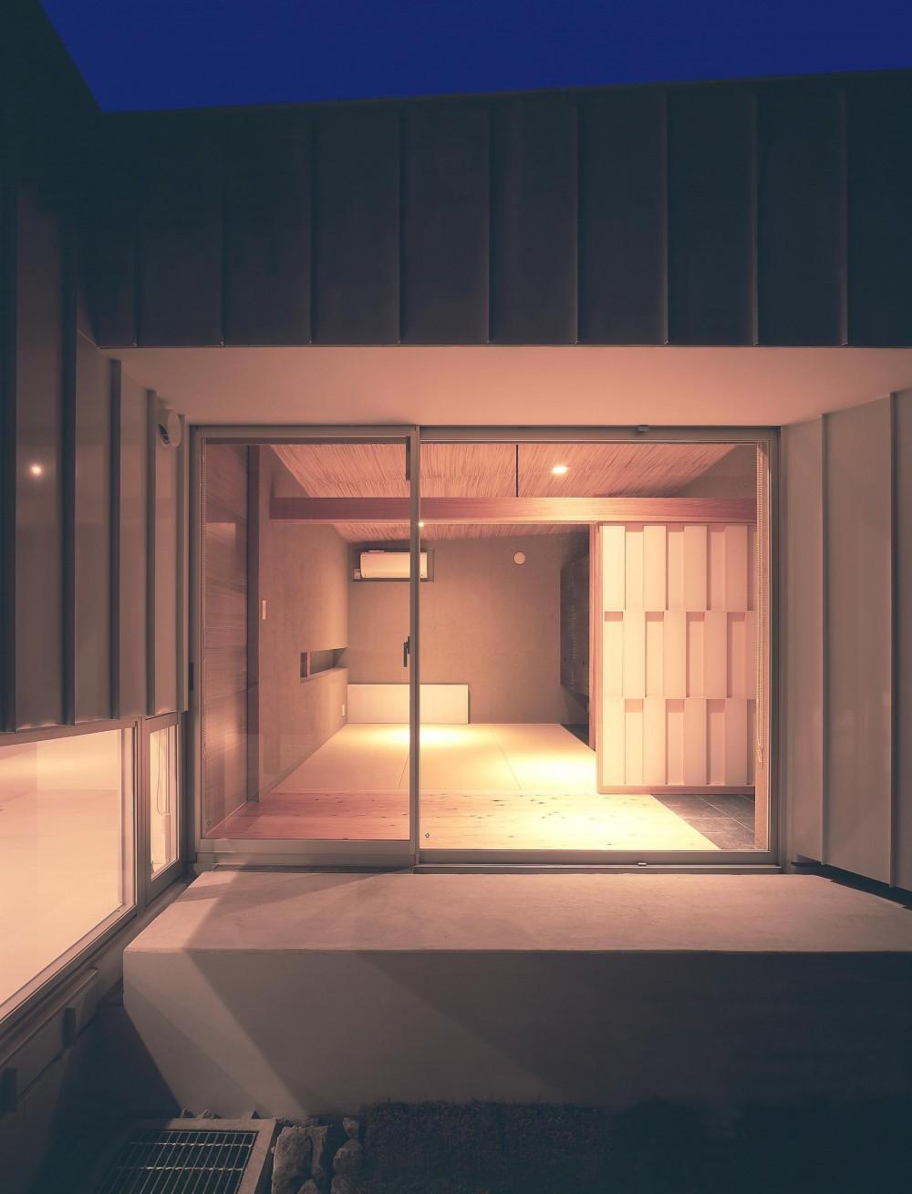 薩摩川内の住宅 (和室夜景)