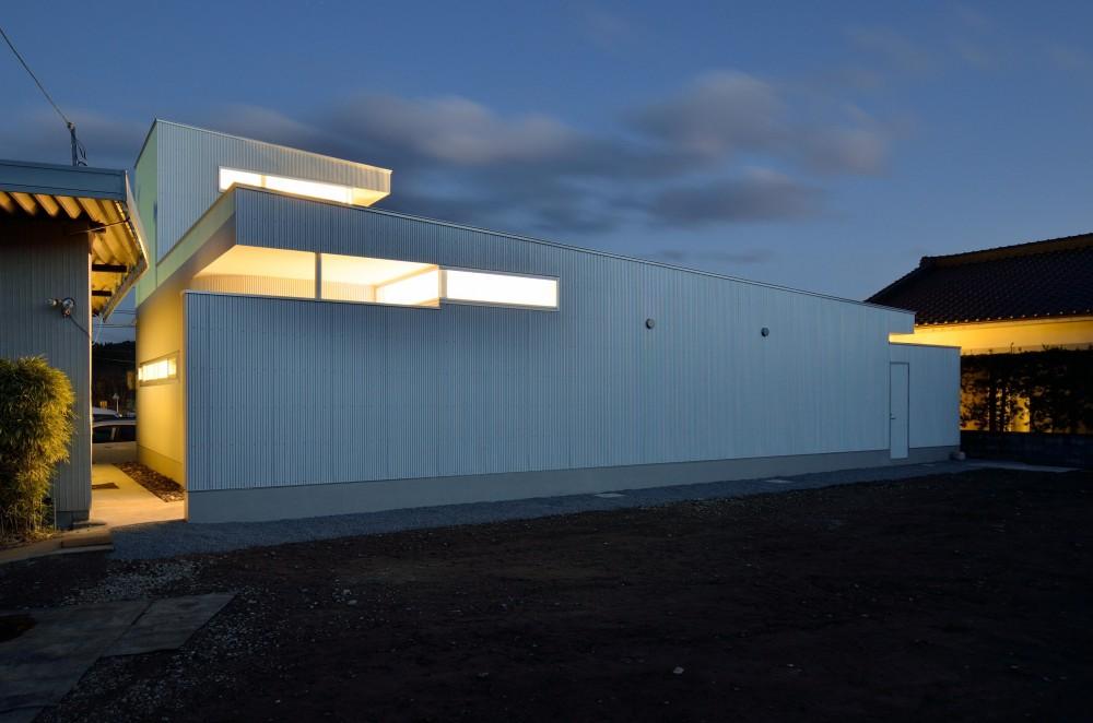 湧水町の住宅 (外観夜景2)