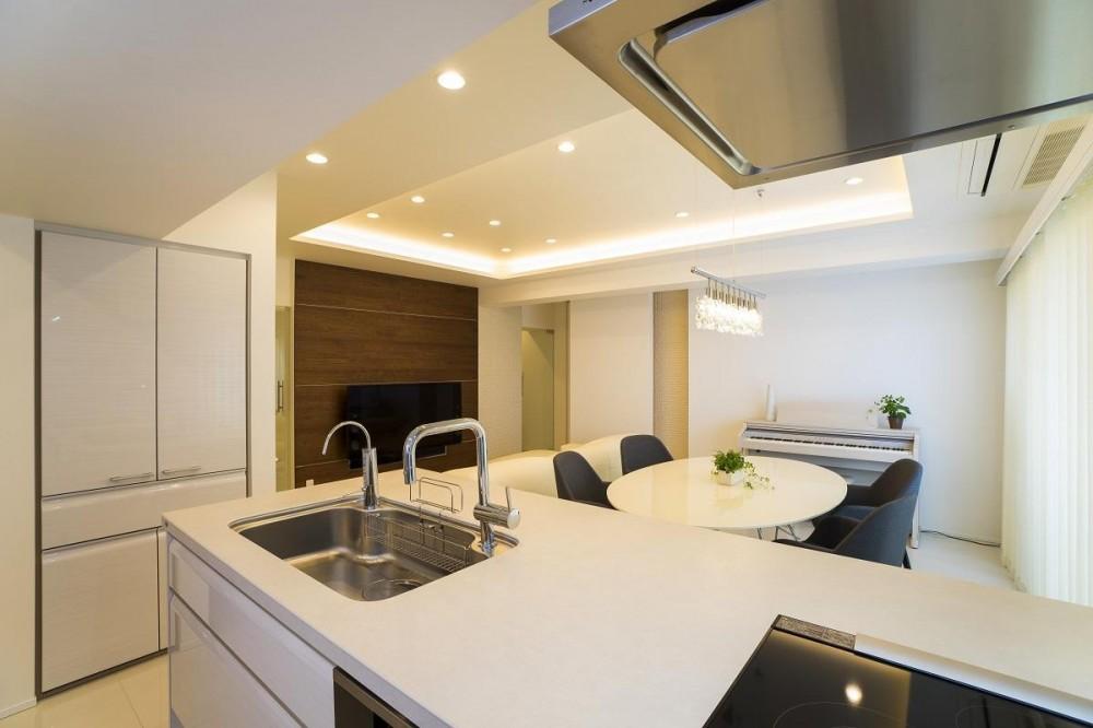 光の贅に抱かれる邸宅 (Kitchen)