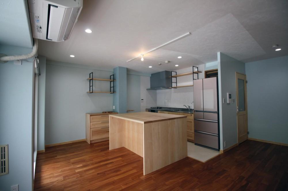 キッチンを楽しむリノベーション ~トラディショナル・ネオボタニカル~ (二人の空間 LDK)