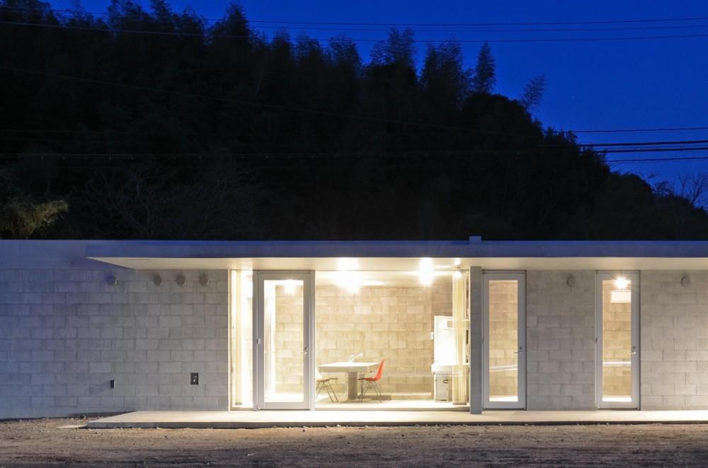 飯牟礼の住宅 (外観夜景3)