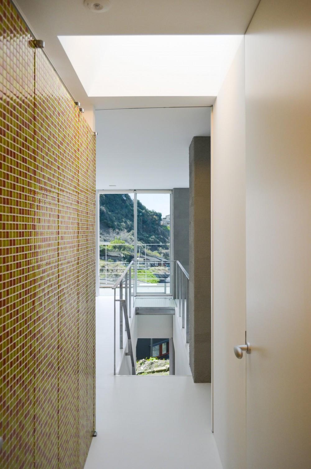 上竜尾町の住宅(リノベーション) (廊下よりリビング方向を見る)