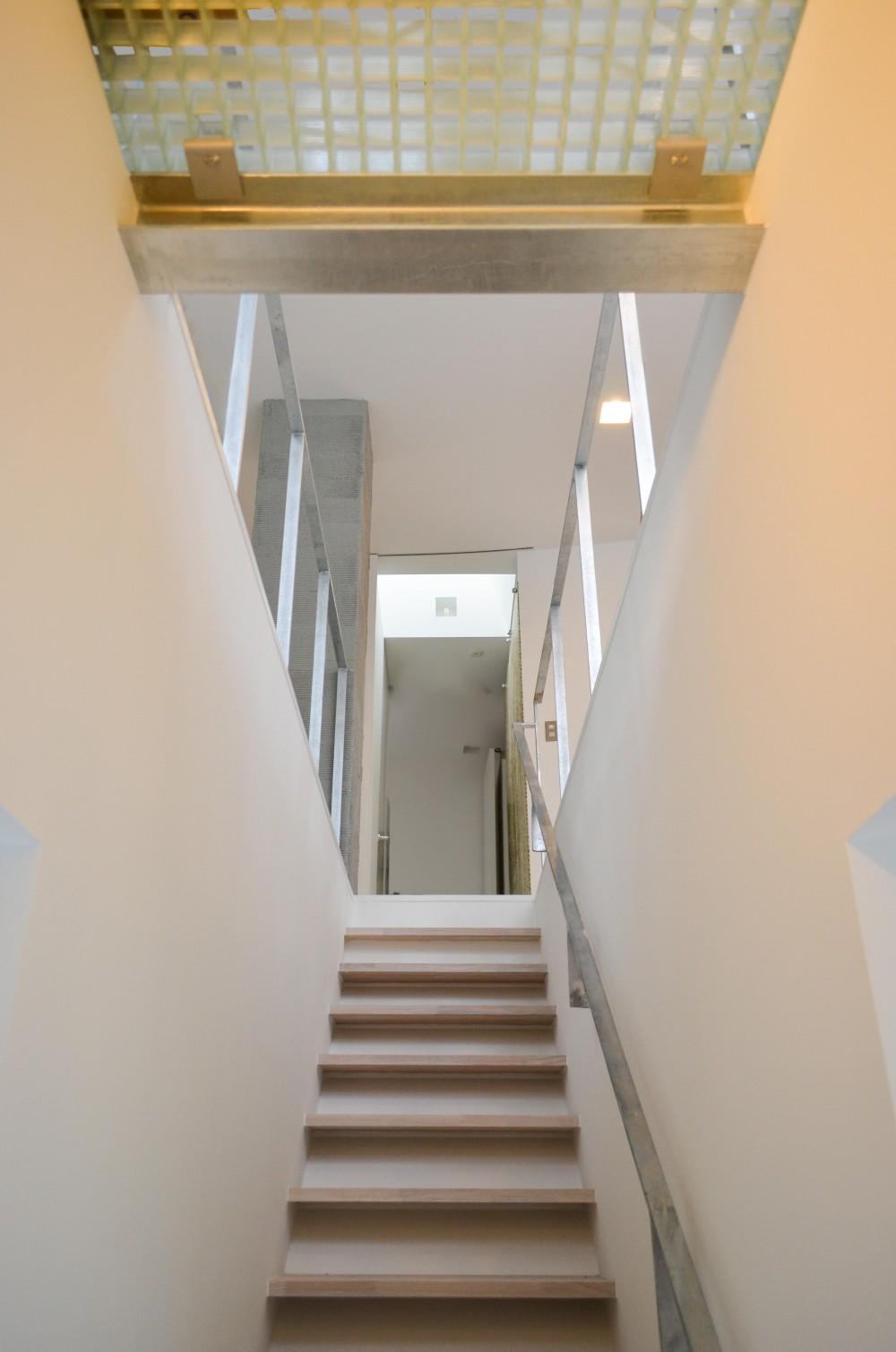 上竜尾町の住宅(リノベーション) (階段見上げ)