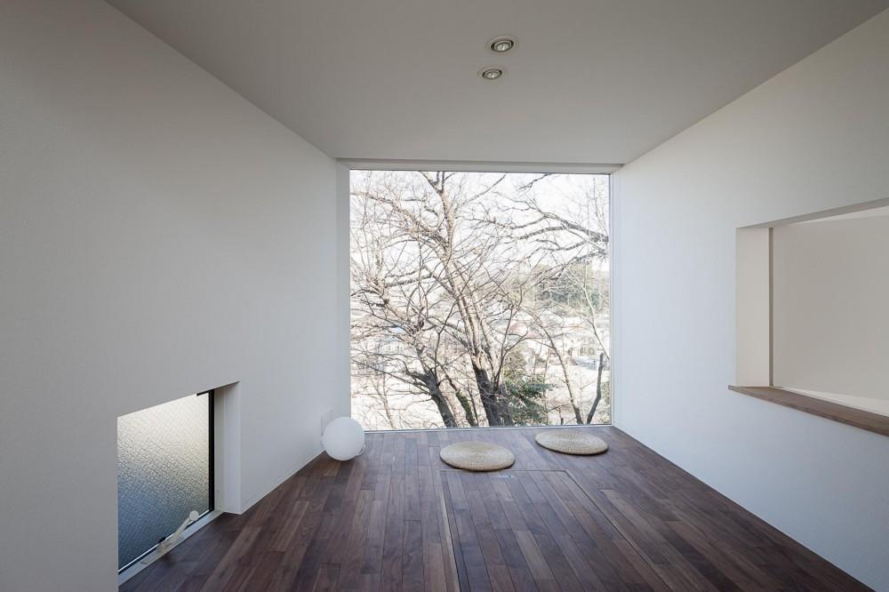 ギャラリーとスモールオフィスが同居した住居 (ピクチャーウィンドウの茶の間)