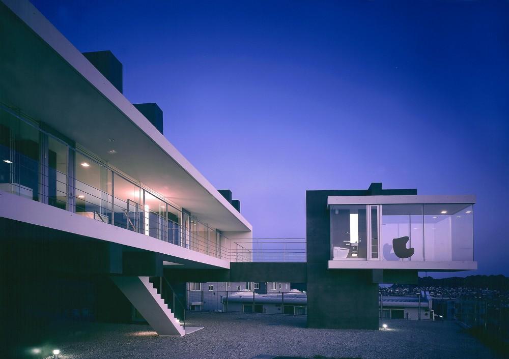 中山の住宅 (外観夜景1)
