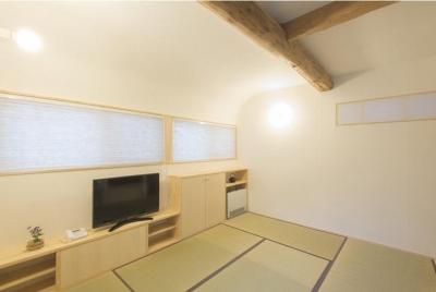 天野の家/リノベーション (居間のR天井)