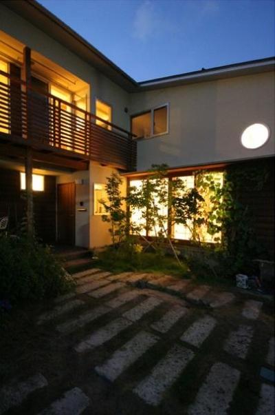 外観-夜景 (関屋大川前の家)
