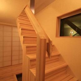 関屋大川前の家 (階段)