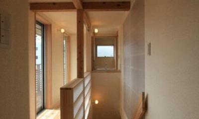 関屋大川前の家 (2階廊下)