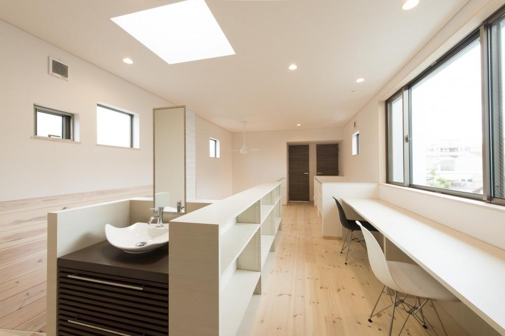 オープンエア(開放感にあふれる戸外とのつながり)を楽しむ家 (2階 ワークスペース)