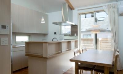 空気集熱ソーラーのある二世帯住宅 (キッチン)