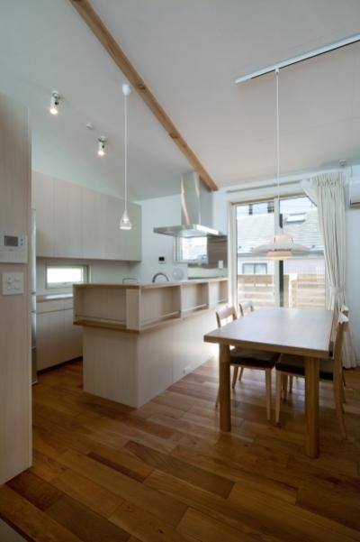 キッチン (空気集熱ソーラーのある二世帯住宅)