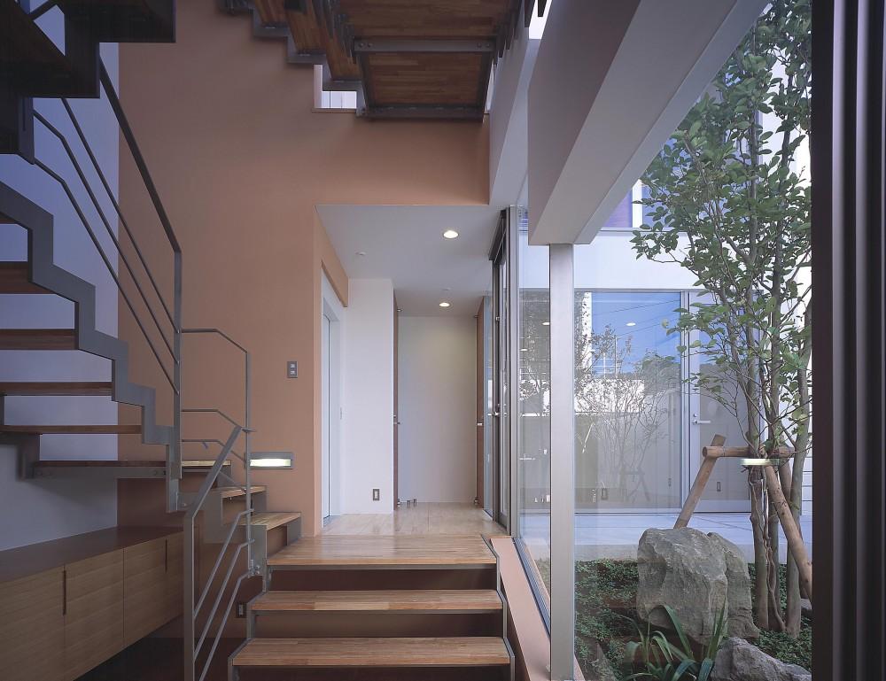 薬師の住宅 (玄関より階段方向を見る)