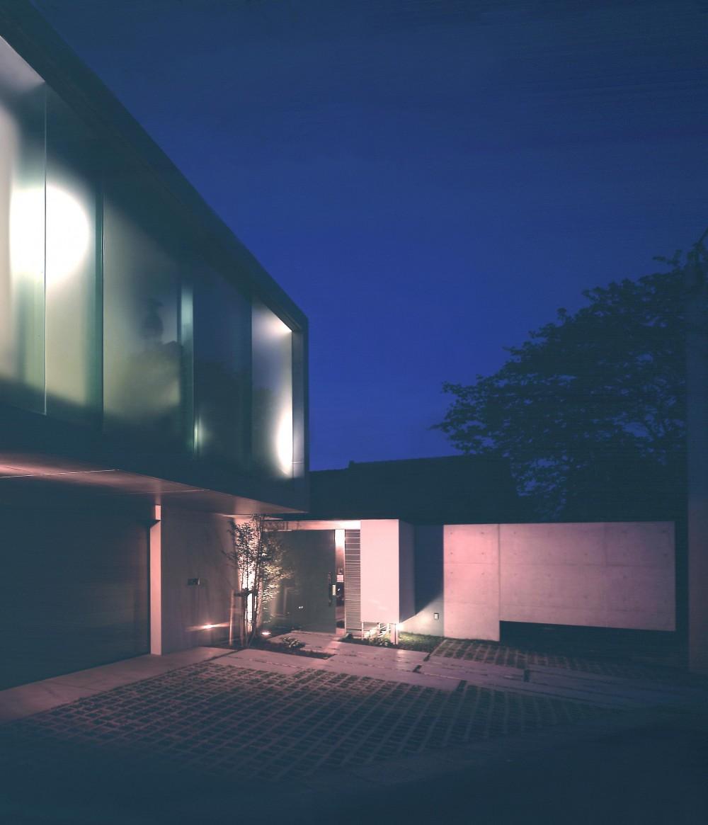 長田町の住宅 (外観夜景1)