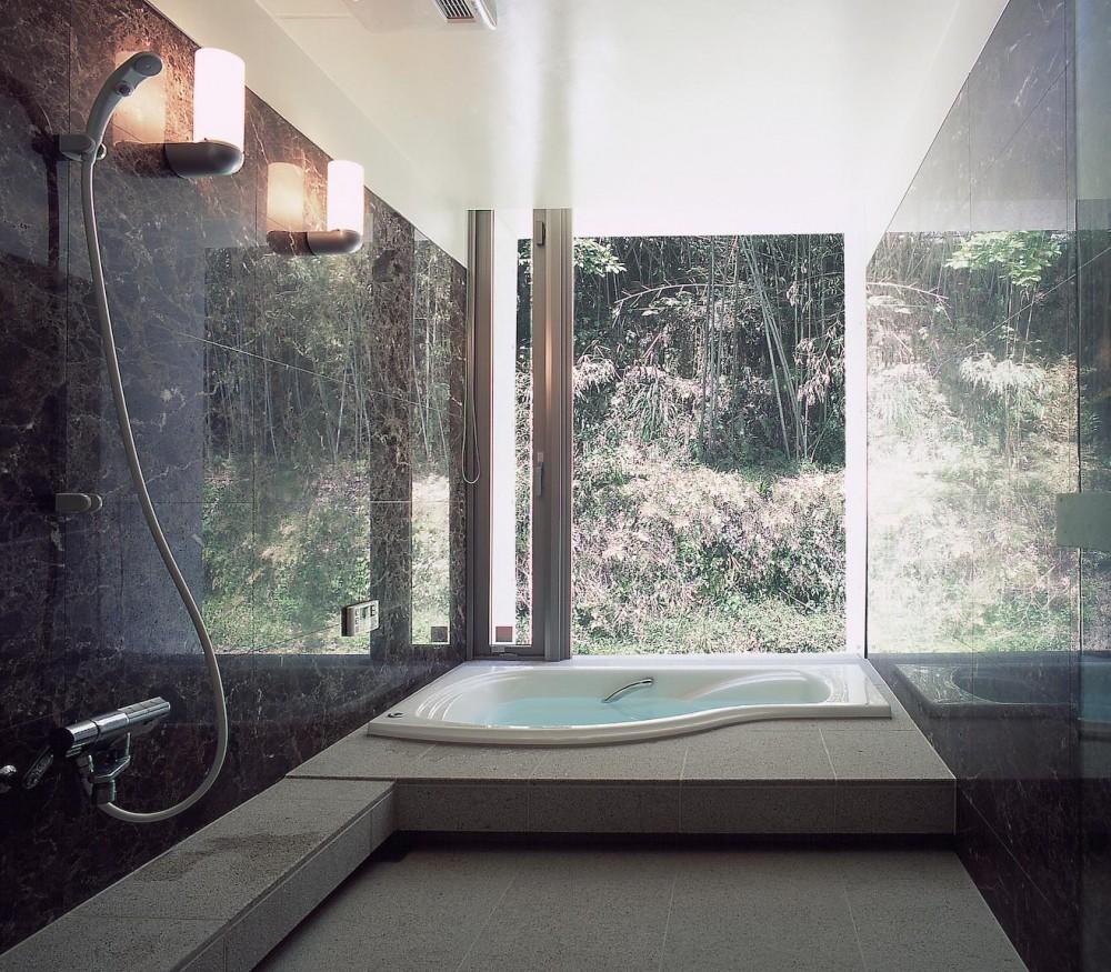 長田町の住宅 (浴室)
