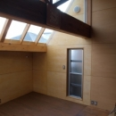 サンルーム増築部 通風用の窓と換気扇