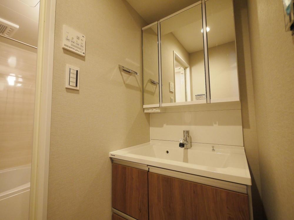シンプル収納でにゆとりの1LDK (洗面・バスルーム)