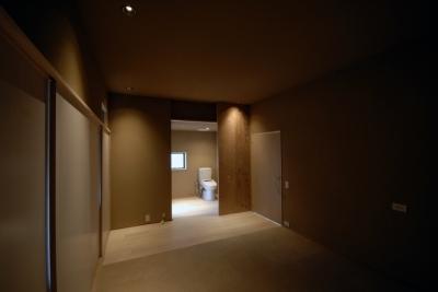 寝室 (車いすで生活するバリアフリー和風住宅/地の家)
